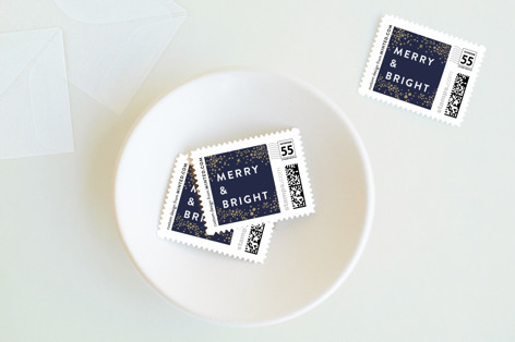 Golden Galaxy Holiday Holiday Stamps