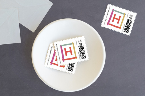 Brushy New Year Holiday Stamps