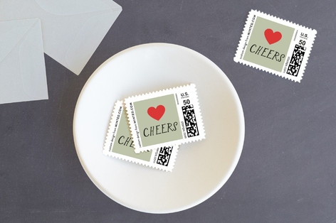 Heart Home Holiday Stamps