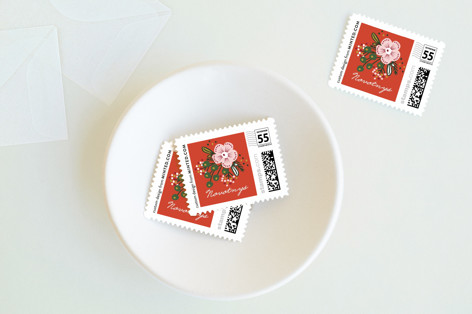 Be Merry Bouquet Holiday Stamps