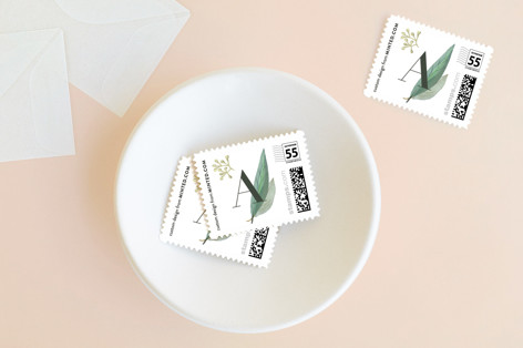Greenery Holiday Stamps