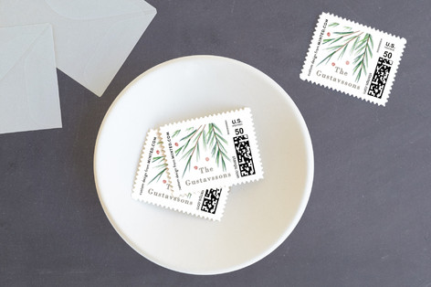Soft Pine Holiday Stamps