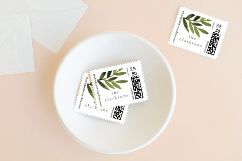 Simple Olive Branch Holiday Stamps