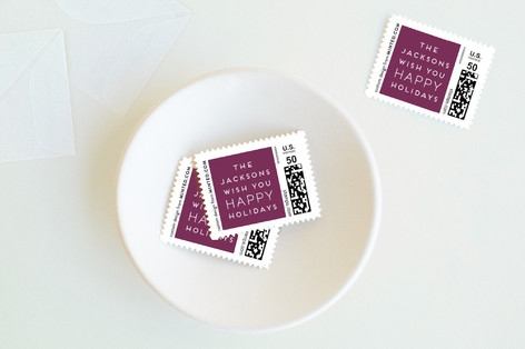 Minimalistic Chic Holiday Stamps