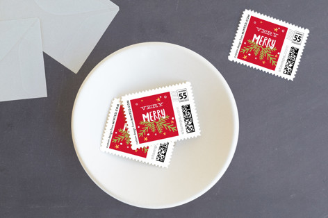 Howly Jowly Christmas Holiday Stamps