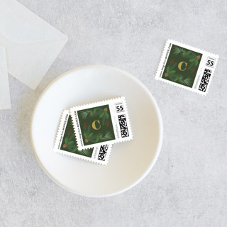 Joy Greenery Holiday Stamps