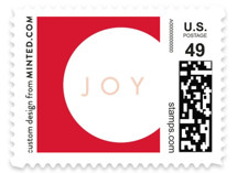 Boldly Modern Holiday Stamps