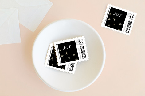 Married and Cheerful Holiday Stamps