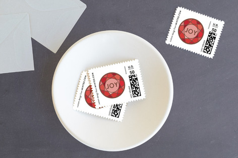 Diamond Cut Holiday Stamps
