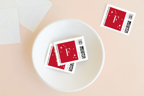 Softly Scripted Holiday Stamps