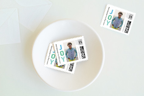 Vertical Joy Holiday Stamps
