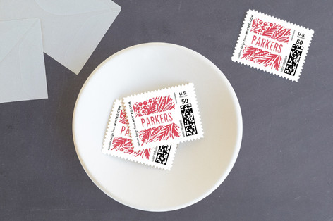Bold Branches and Berries Holiday Stamps