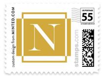 Golden Frame Holiday Stamps