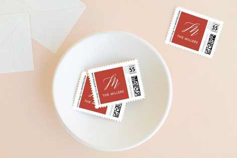 Scripted Christmas Holiday Stamps