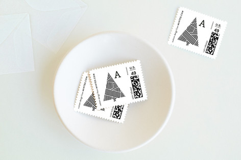 Ribbon Wrapped Holiday Stamps