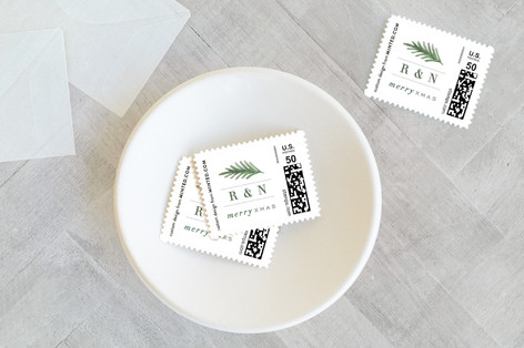Married Christmas Sprig Holiday Stamps
