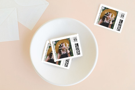 Stacked Holiday Stamps