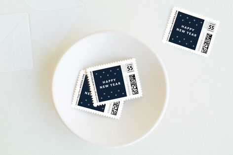Lettered New Year Holiday Stamps
