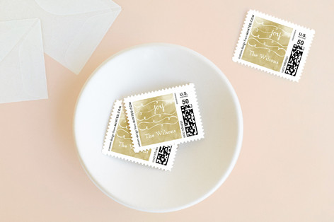 Hand Painted Joy Holiday Stamps