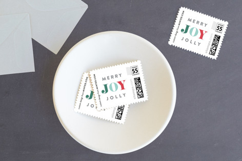 Merry Jolly Joy Holiday Stamps
