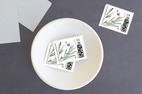 Loosely Painted Holiday Stamps