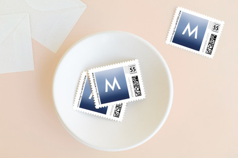 Happy Hanukkah Chalk Lettering Holiday Stamps