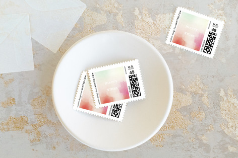 Painterly Peace Holiday Stamps