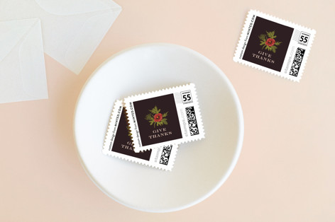 Centerpiece Holiday Stamps