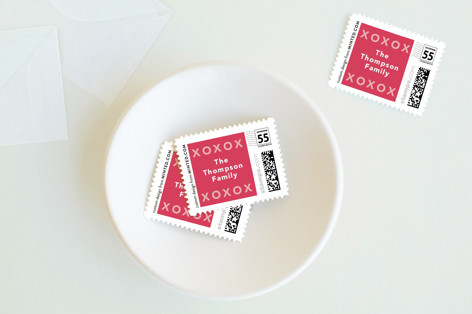Valentines Script Holiday Stamps