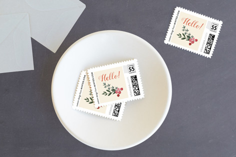 Thanksgiving table Holiday Stamps