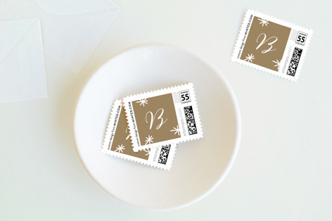 bright script Holiday Stamps