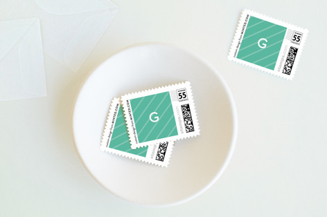 Geo Merry Holiday Stamps