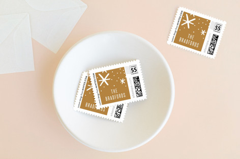 Cheer and Happiness Holiday Stamps