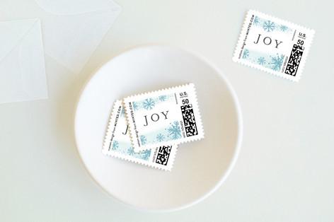 Snowfall Holiday Stamps