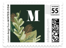 Noel Greenery Holiday Stamps