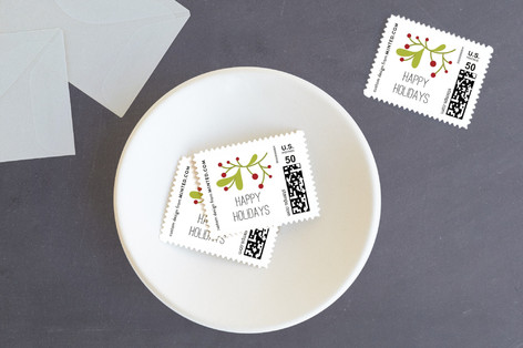 Holiday Berries Holiday Stamps