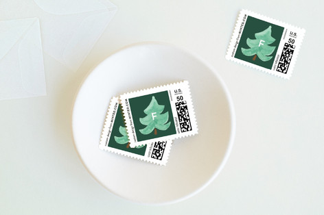 Watercolor Stack Holiday Stamps