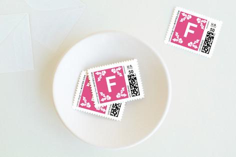 Holly Burst Feliz Navidad Holiday Stamps