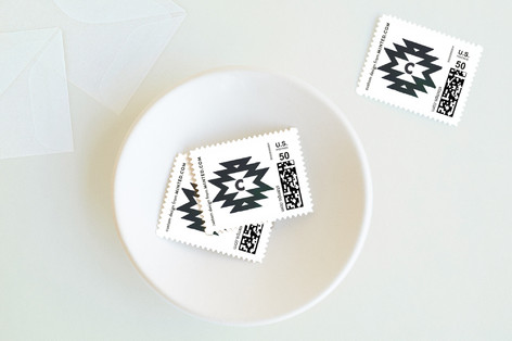 festive nordic Holiday Stamps
