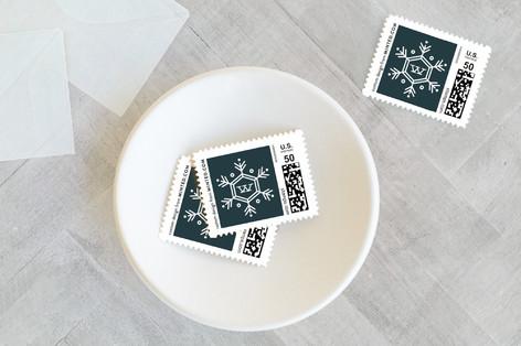Seasonal Monogram Holiday Stamps