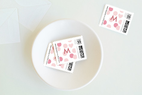 valentine confetti Holiday Stamps