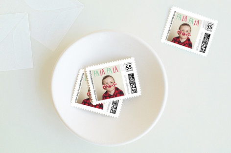 Fa La Fa La Holiday Stamps