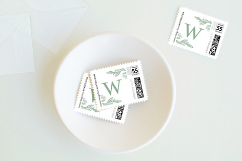 Simple Script Holiday Stamps