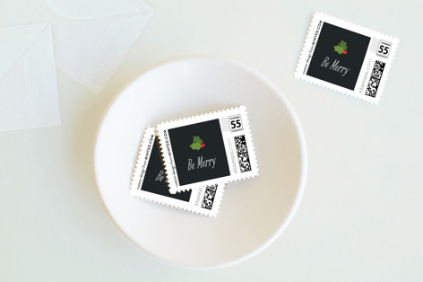 Mistletoe and Merriment Holiday Stamps