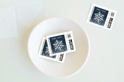 Wintry Border Holiday Stamps