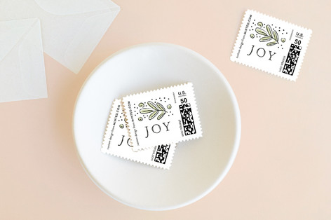 Cheerful branches Holiday Stamps