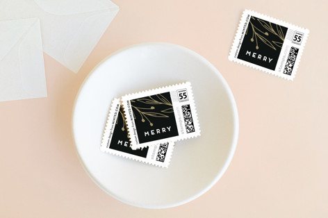 Adorned Corners Holiday Stamps