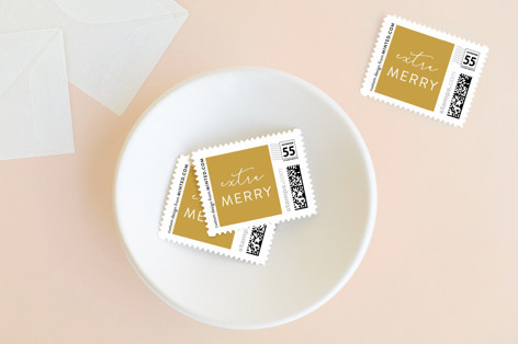 Extra Merry Holiday Stamps