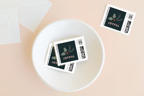 Foliage Joyful Holiday Stamps