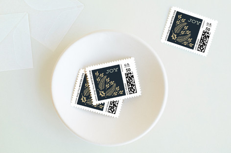 Gilded Love Holiday Stamps